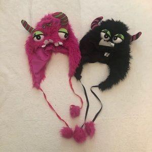 Spirit Halloween Monster Hat Costume black or pink